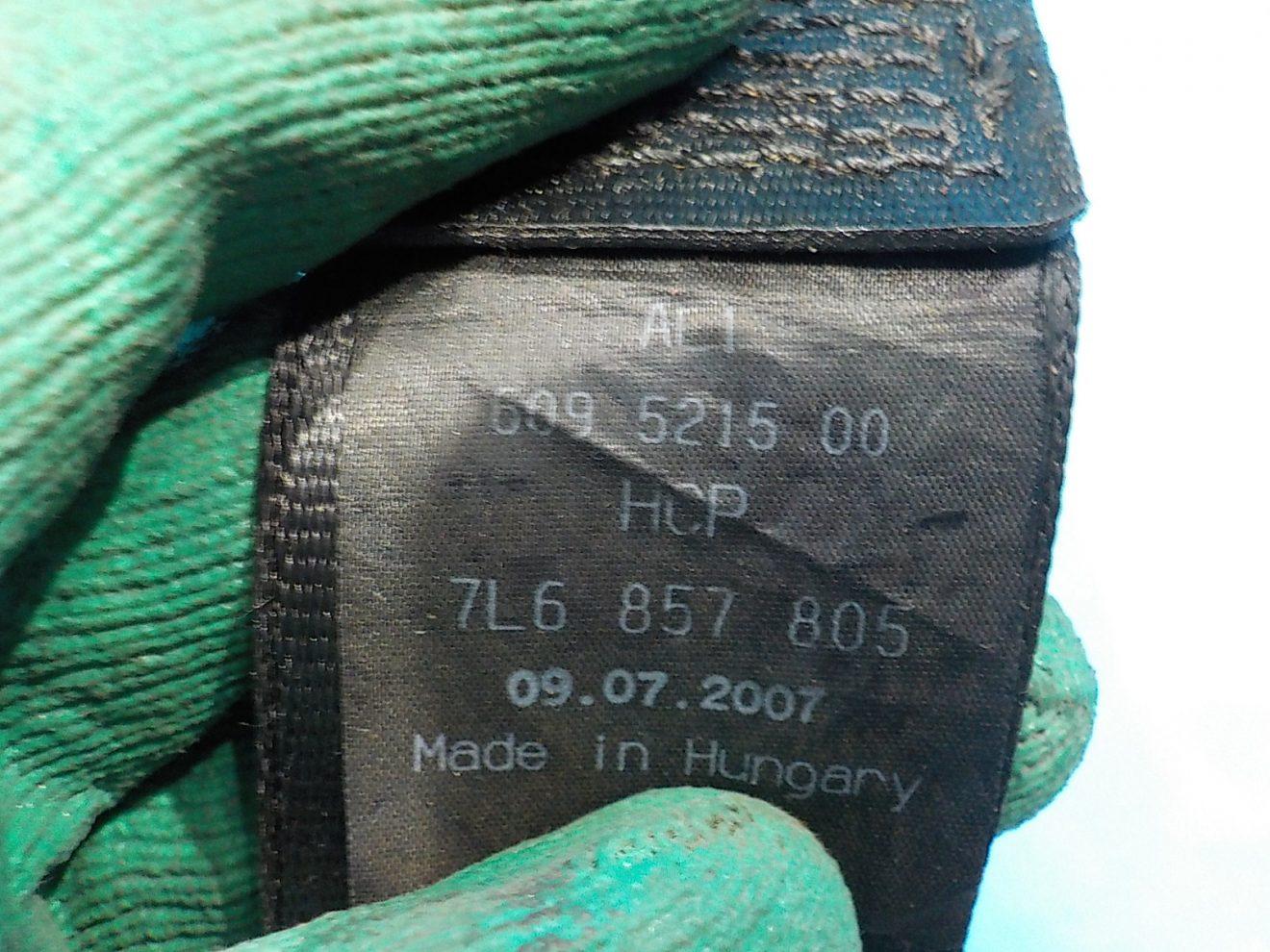 7L6857805BHCP Ремень безопасности задний левый VOLKSWAGEN Touareg 2002-2010